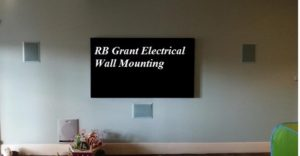 TV wall mount with concealed wiring