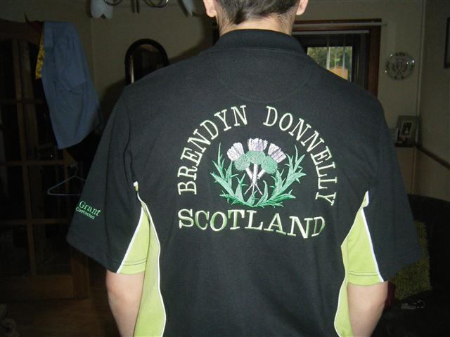 Brendyn Donaldson sponsorship by RB Grant